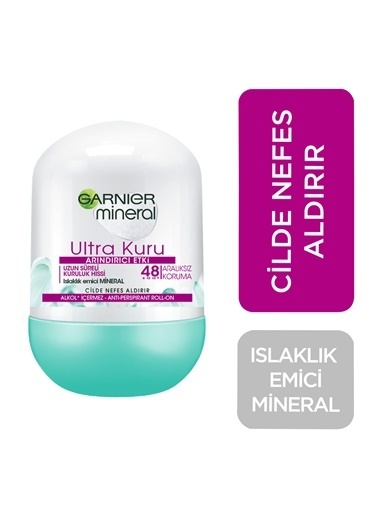 Garnier Garnıer Roll On Mineral Ultra Kuru 50 Ml Renksiz
